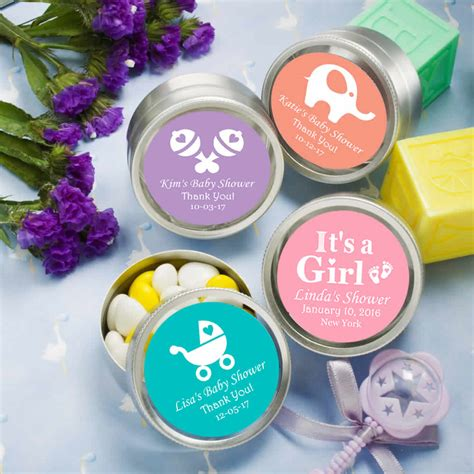 Baby Shower Wholesale Favors by Wholesale Baby Shower Favors Silver Mint Tins Baby Boy