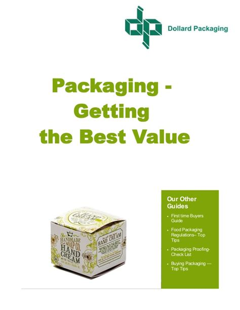 buying packaging how to get the best value