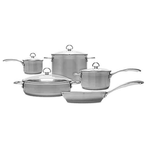 bed bath and beyond wok chantal 174 induction 21 steel 9 piece cookware set bed