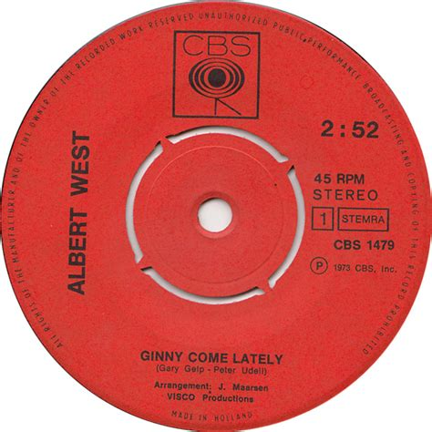 albert west ginny come lately albert west ginny come lately 7 quot si 1973 het plaathuis