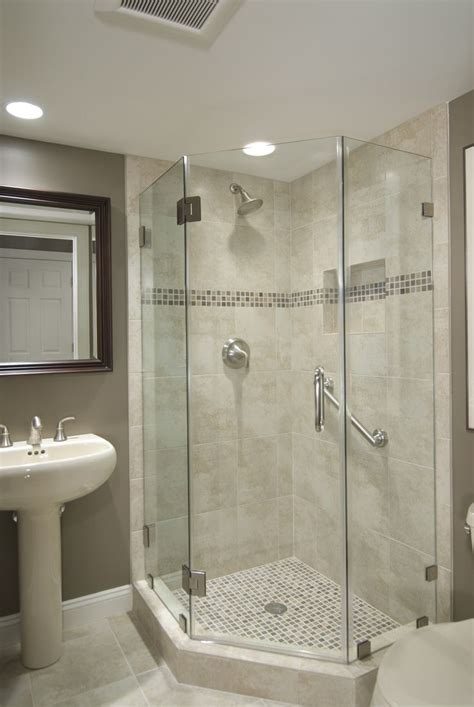 Bathroom Corner Shower Best 25 Glass Shower Walls Ideas On Pinterest Half Glass Shower Wall Shower Walls And Glass