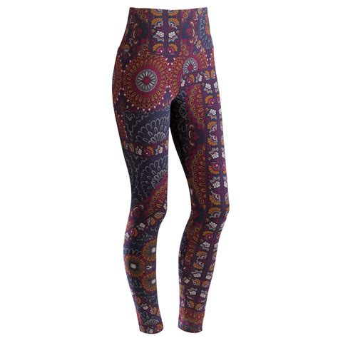 pattern ankle tights lysse support leggings persian pattern floral printed