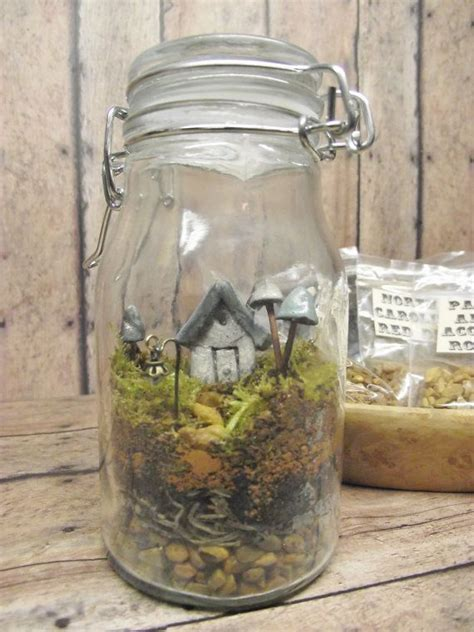 Aktivkohle Terrarium by Terrarium Kit With Tiny House Glow In The Mushrooms