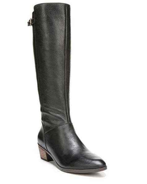dr scholls boots dr scholls malinda leather knee high boots in black lyst