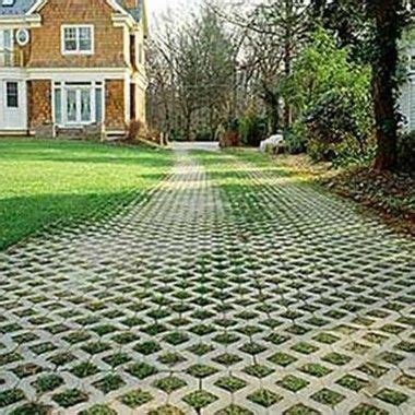 Permeable Patio Pavers by Driveways Grasses And Brick Pavers On