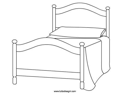 come colorare da letto letto disegno da colorare tuttodisegni