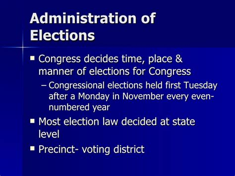 Chapter 7 Section 2 Elections by Chapter 7 Section 2 Elections