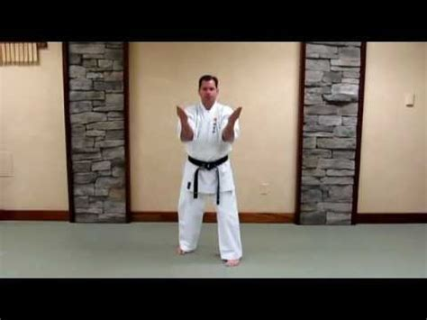 uechi ryu sanchin kata basic study guide youtube