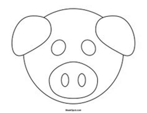 pig mask template goat mask to color teatro mascaras 1