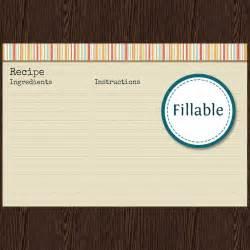 recipe card v1 fillable recipe card 6x4 inches instant