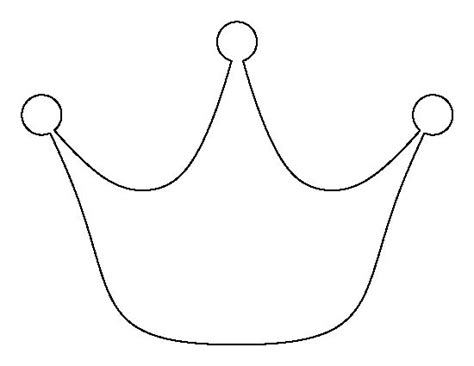 printable image of a crown princess crown pattern use the printable outline for