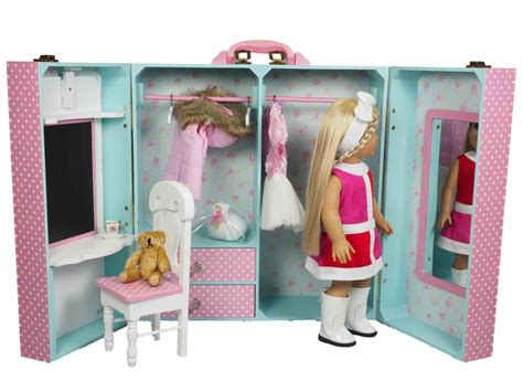 18 doll storage the queen s treasures doll clothes storage trunk for 18