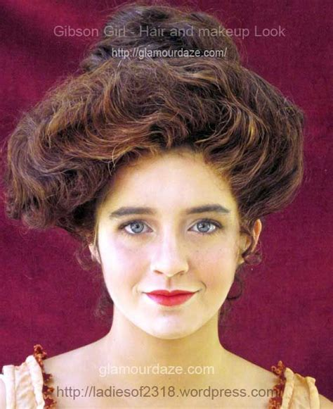 1890s gibson girl hairstyle 40 best womens hair 1910 images on pinterest edwardian