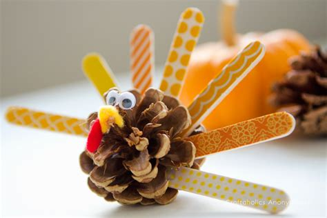 Craftaholics Anonymous 174 Washi Pinecone Turkeys Tutorial