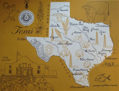 vintage texas maps map of texas vintage map print number 20 by iowajewel on etsy