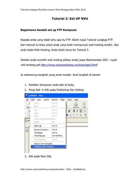 tutorial lengkap delphi 2010 tutorial lengkap membina lawan web menggunakan nvu