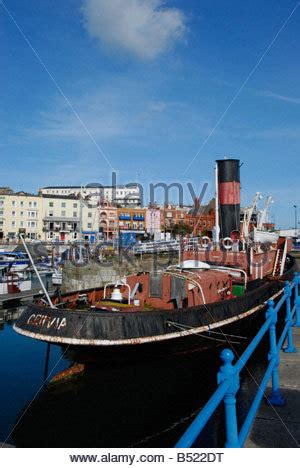 kent tugboat the steam tug cervia in ramsgate harbour stock photo