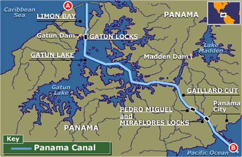 Panama Canal On World Map by Bbc News Panama Canal