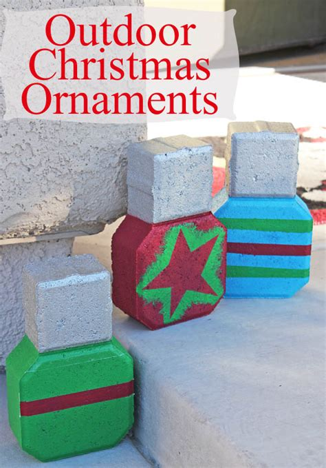 outdoor ornaments with frog tape 30 minute crafts