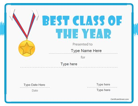 summer c certificate template education certificates best class of the year