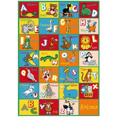 abc rug animal alphabet rug 39in x 58in