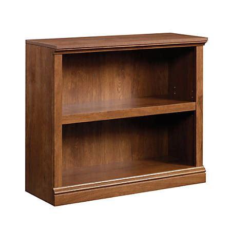 sauder 2 shelf bookcase sauder select bookcase 2 shelf oak by office depot