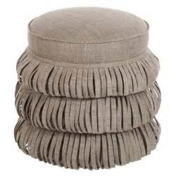round tufted ottoman with fringe neutral round nordic ottoman products bookmarks design