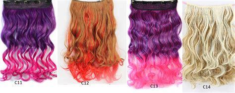 Promo Hair Clip Ombre Curly Hair Clip Promo jual hair clip extension rambut palsu big single layer