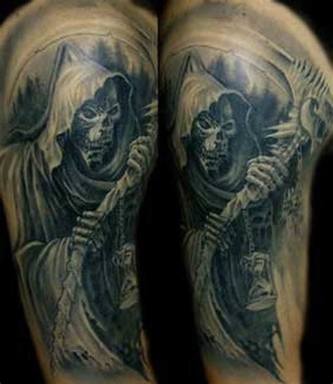 reaper tattoos for men half sleeve grim reaper for tattoos book 65