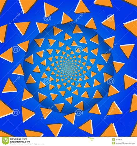 svg pattern rotate rotating triangles optical illusion vector illustration