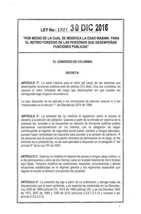ley del isan 2016 ley 1821 del 30 de diciembre de 2016