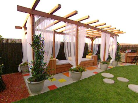 diy backyard pergola build a pergola for a deck or patio hgtv