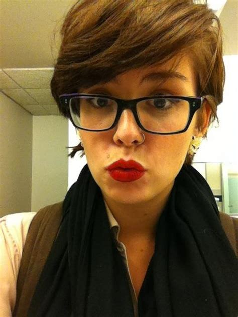 cute hairstyles glasses wearers 3648 best images about short hair rocks on pinterest