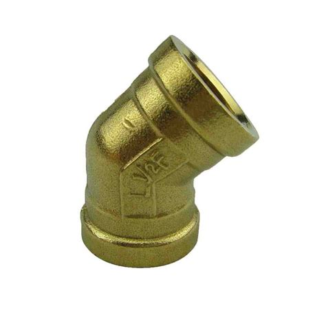 Fitting 45 Degree Famale Famale To Famale Water Cooling free shipping 45 degree 1 2 quot brass new plumbing brass fittings brass