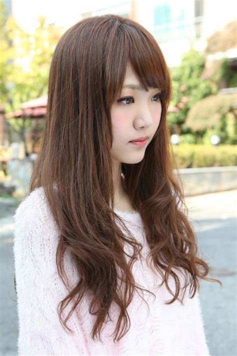 girl japanese hairstyles side view of korean long hairstyle pinterest korean