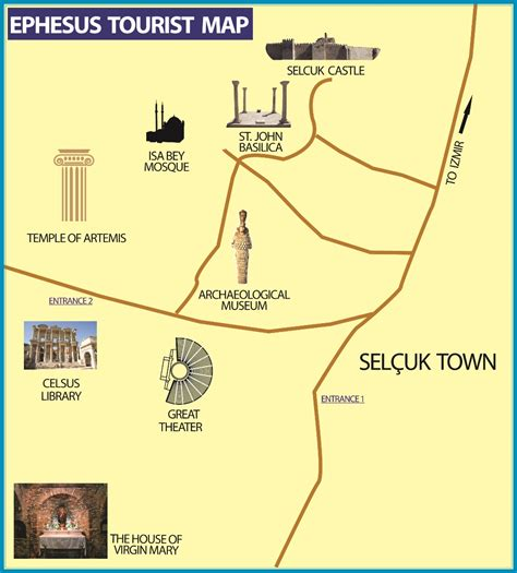 ephesus map ephesus sightseeing tour from izmir or kusadasi