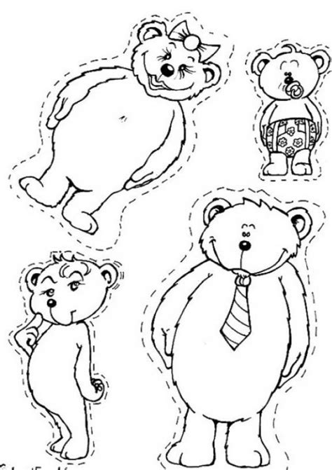 animal family coloring page bear family coloring pages hellokids com