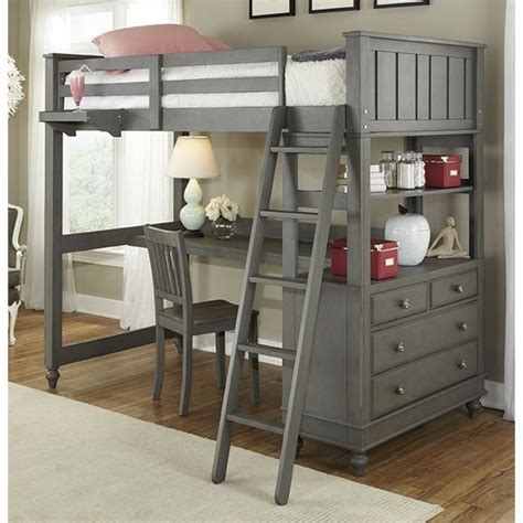 Loft Bed With Desk And Chair by Ne Lake House Loft Bed With Desk In 2040nd
