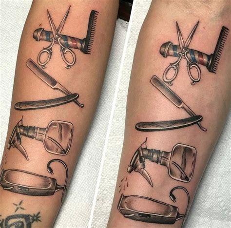 barber tattoos 25 best barber images by kapper enschede on