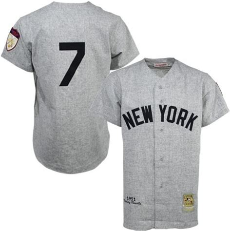 St Grey Mickey grey 1951 throwback mickey mantle authentic jersey s