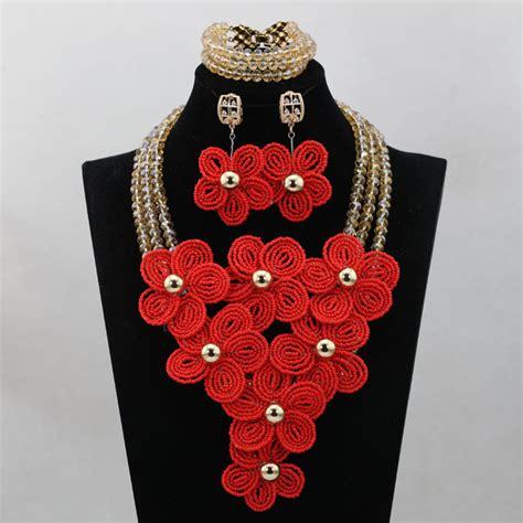 Handmade Costume Jewellery Uk - statement coral jewelry jewelry set