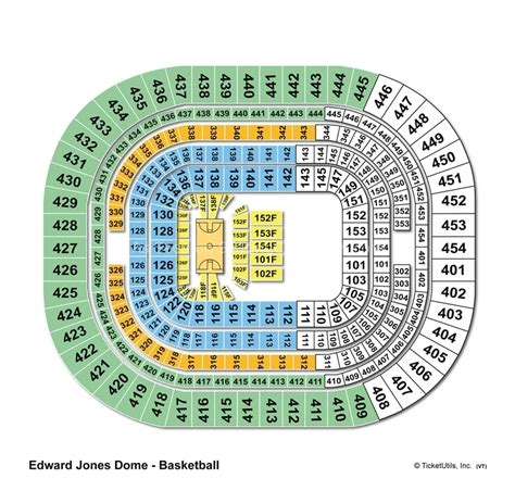 jones seating chart edward jones dome seating chart edward jones dome