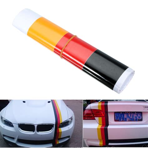 Auto Decals Stickers by German Flag Style Auto Vehicle Bumper Stripes Sticker