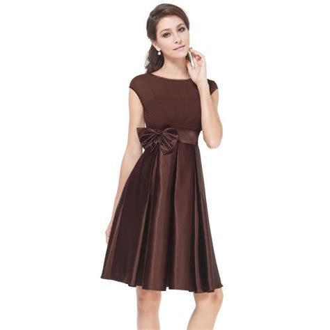 Robe De Cocktail En Satin - robe de cocktail de soir 233 e brune fluide en satin marron