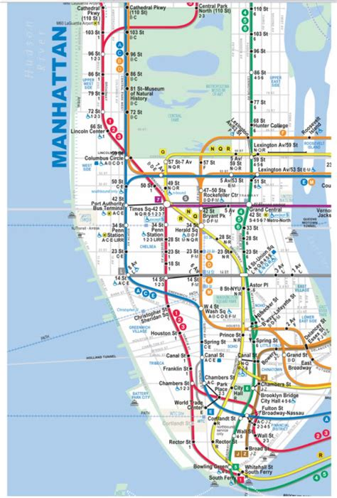 subway map for manhattan geography maps manhattan new york city