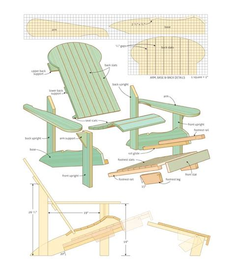 adirondack rocking chair plans pdf woodplans pdfplans page 150