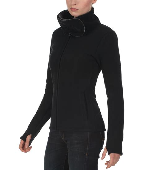 bench fleece bench nomenclature zip thru hooded fleece in black lyst