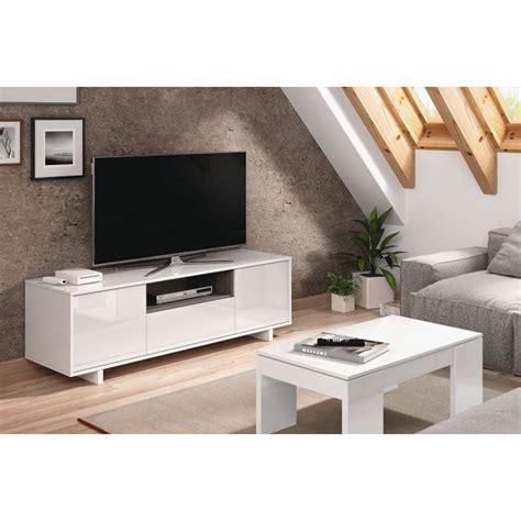mueble zaida comedor tv moderno color blanco brillo