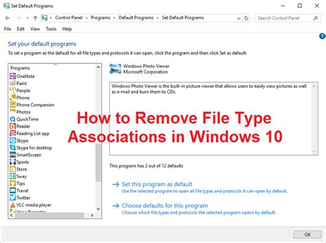 How to Remove File Type Associations in Windows 10 ... File Type Associations In Windows 10