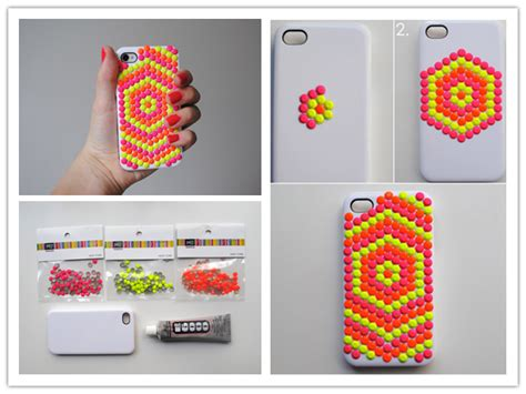 to make beautiful how to make beautiful diy neon stud phone cases step by